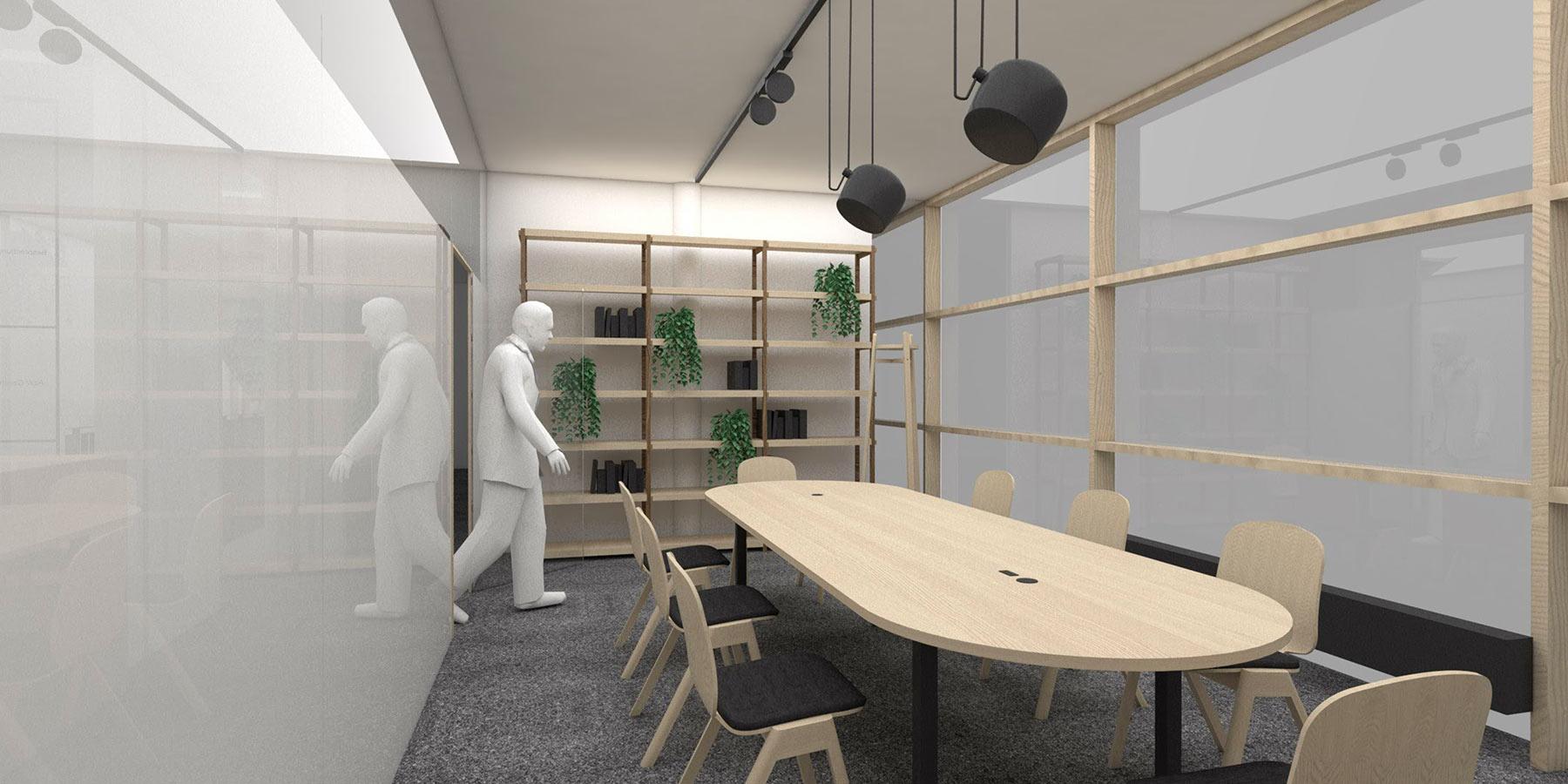 Besprechungsraum für alle Firmen in der Fabrik
